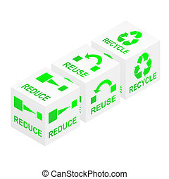 Reduce Reuse Recycle Cubes