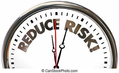 Reduce Risk Reducing Liability Danger Time Clock 3d Illustration