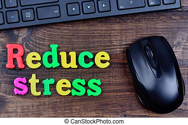 Reduce stress words on table