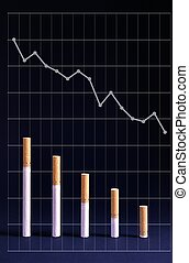 reduced level of smoking and graph