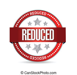 reduced seal illustration design over a white background