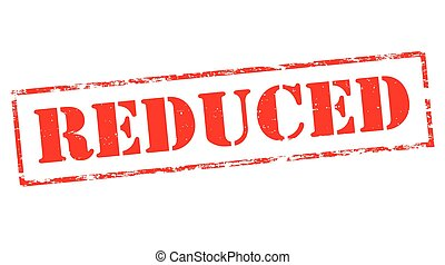 Reduced - Stamp with word reduced inside, vector...