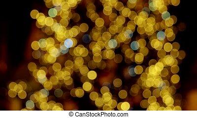 Reducing amount of lights. Translucent lights close-up....