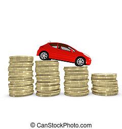 reducir, coche, coste, mantener, comprar