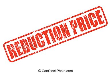 REDUCTION PRICE RED STAMP TEXT