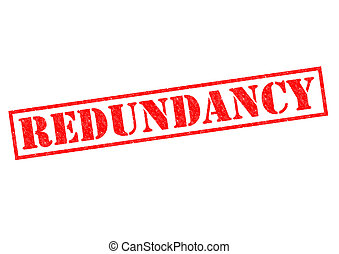 REDUNDANCY red Rubber Stamp over a white background.