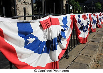 Red,white and blue parade banners - Colorful red,white and...