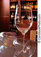 redwine-glasses in a wine-shop