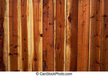 Redwood Fence Background
