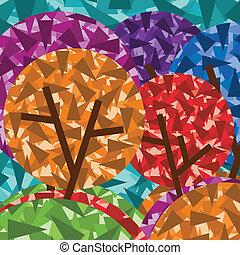 ree set vector background stylized