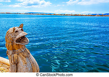 Reed Boat and Lake Titicaca