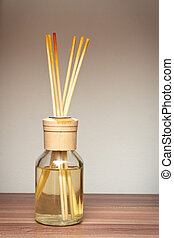 Reed diffusers - Still life image of scented reed diffusers