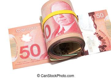reeks, dollars, canadees