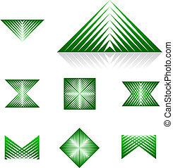 reeks, -, dynamisch, element, 1, ontwerp