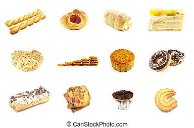 reeks, goederen, bakt, 5