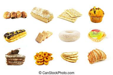 reeks, goederen, bakt, 6