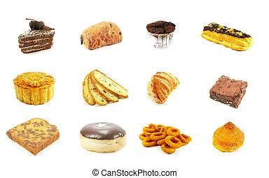 reeks, goederen, bakt, 8