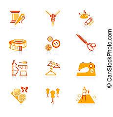 reeks, iconen, mode, sappig, |