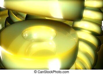 reeks, ring, reflecterend