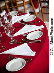 reeks, trouwfeest, -, tafel