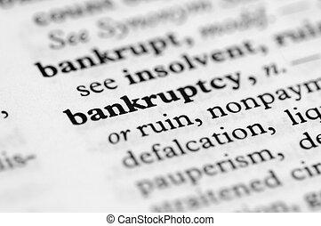 reeks, -, woordenboek, faillissement
