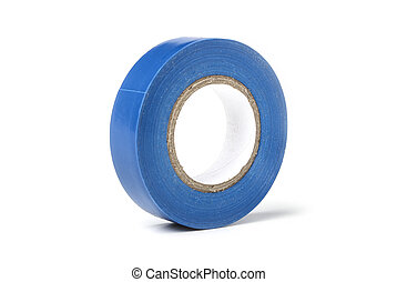 Reel of blue electrical tape