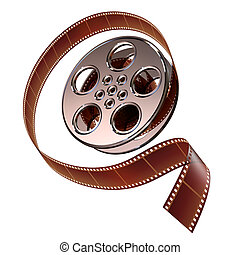 Reel of film with the protruding film can