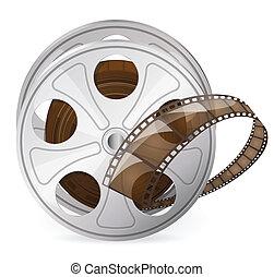 Reel of movie tape - Vintage reel of movie tape