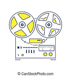 Reel tape recorder icon