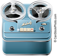 Reel-to-reel audio tape recorder icon