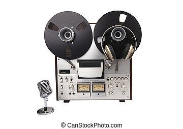 Audio Tape Recorder with Headphones