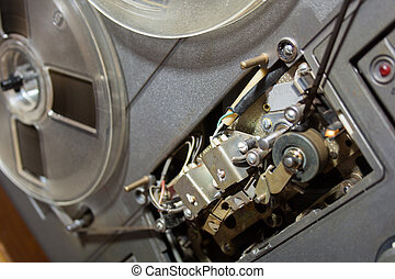 reel to reel player - Old reel-to-reel recorder with ...