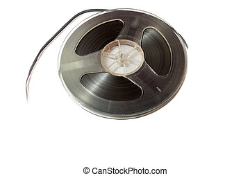 reel to reel tape - vintage reel-to-reel tape on a white ...