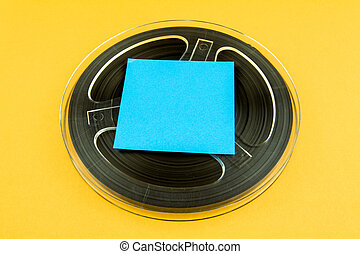 Reel to Reel Tape - Vintage Reel with a Tape and Empty Paper...