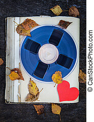 Reel to Reel Tape - Vintage Reel with a Tape and with Red ...