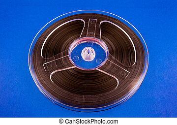 Reel to Reel Tape - Vintage Reel with a Tape on the Blue ...