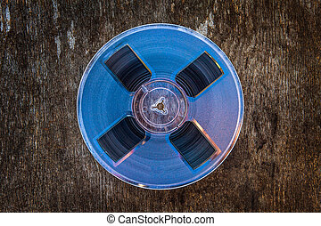 Reel to Reel Tape - Vintage Reel with a Tape on the Grunge ...