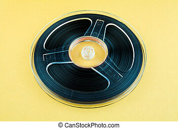 Reel to Reel Tape - Vintage Reel with a Tape on the Yellow ...