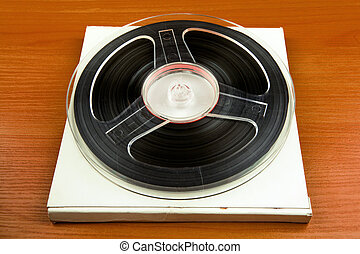 Reel to Reel Tape - Vintage Reels with a Tape on the Table ...