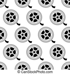 Reel with film pattern