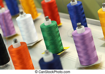 reels of thread on Machine embroider