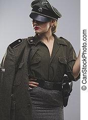 reenactment, Official German woman, representation of...