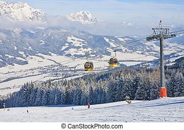 refúgio esqui, schladming, ., áustria