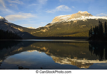 Refections on Scenic Mountain Lake
