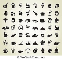 refeição, ícones