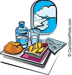 refeição, ar