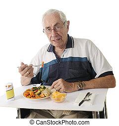 refeição, hospitalar