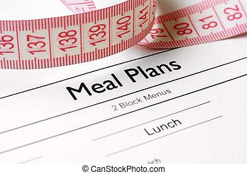 refeição, plano