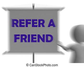 Refer A Friend Board Displays Friendly Referral - Refer A...