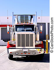 Refer Truck at dock - This is a picture of 18 wheeler ...